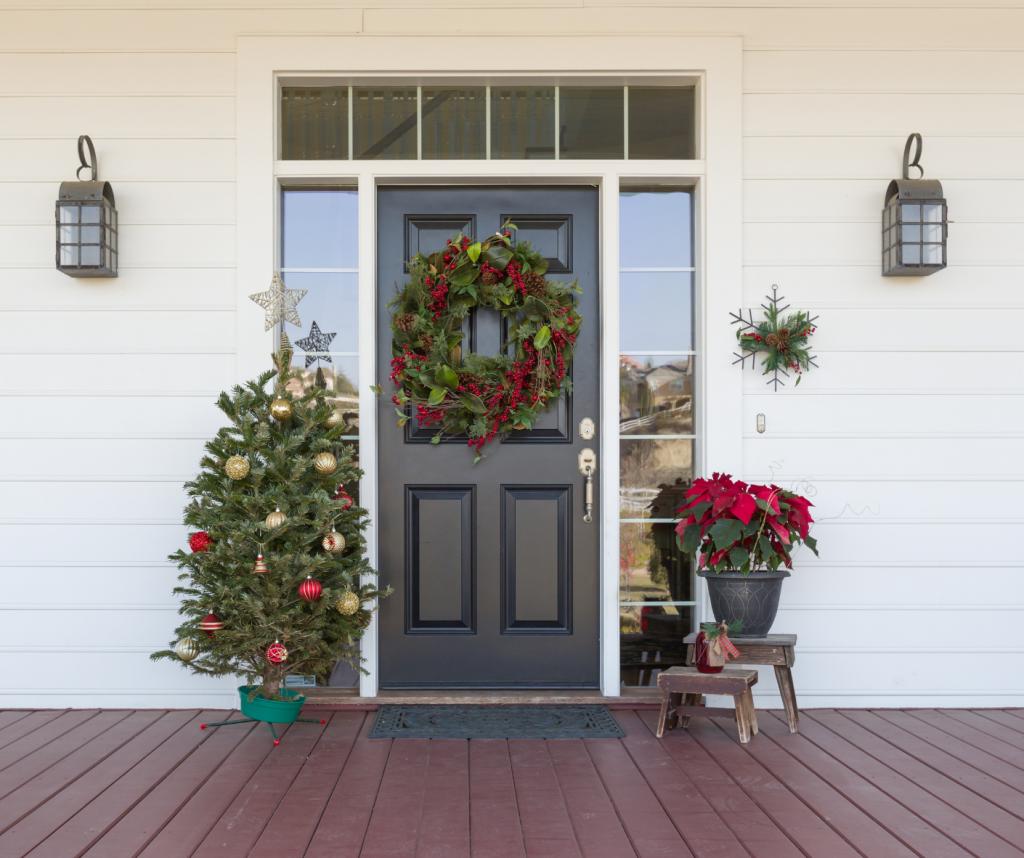 christmas house front door