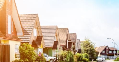 Homes in a neighborhood